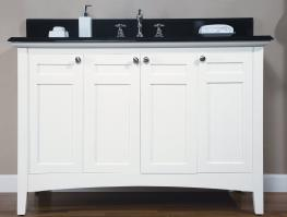 48 Inch Single Sink Shaker Style Bathroom Vanity with Choice of Counter Top