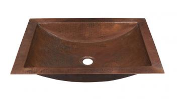 Antique Copper Undermount Bathroom Sink