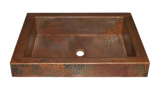 Antique Copper Raised Profile Bathroom Sink