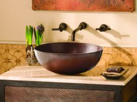 Antique Copper Vessel Bathroom Sink
