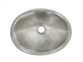 Brushed Nickel Copper Drop-In Bathroom Sink