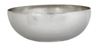 Brushed Nickel Copper Vessel Bathroom Sink
