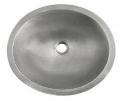 Brushed Nickel Copper Undermount Bathroom Sink