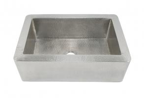 Brushed Nickel Copper Apron Front Kitchen Sink