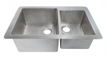 Brushed Nickel Copper Undermount Kitchen Sink