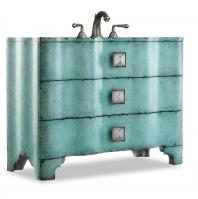 48 Inch Single Sink Bathroom Vanity with Turquoise