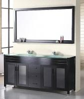 60 Inch Modern Double Sink Bathroom Vanity in Espresso