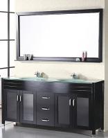 Design Element Co. 72 Inch Double Sink Bathroom Vanity
