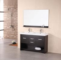 48 Inch Modern Double Sink Bathroom Vanity In Espresso
