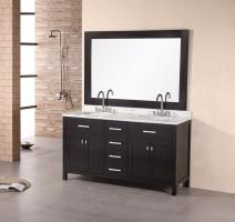 Design Element Co. 61 Inch Double Sink Bathroom Vanity
