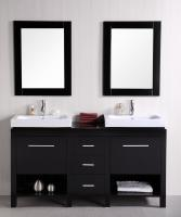 Design Element Co. 60 Inch Double Sink Bathroom Vanity