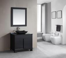36 Inch Single Sink Bathroom Vanity with Built in LED Lighting