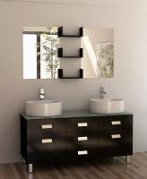 Design Element Co. 55 Inch Double Sink Vanity Set in Espresso