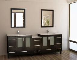 88 Inch Double Sink Bathroom Vanity with Ample Storage