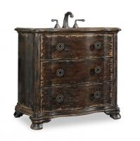 38 Inch Single Sink Bathroom Vanity in Distressed Cherry