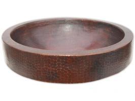 Eden Bath Semi Recessed Dark Copper Vessel Sink