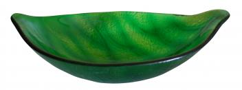 Green Leaf Shaped Vessel Sink