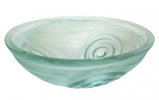 Clear Swirls Glass Vessel Sink