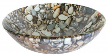 Eden Bath Natural Pebble Pattern Glass Vessel Sink