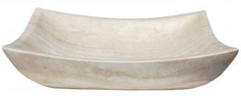 Deep Zen White Travertine Vessel Sink
