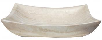 Eden Bath Deep Zen White Travertine Vessel Sink
