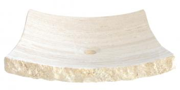 White Travertine Large Zen Sink