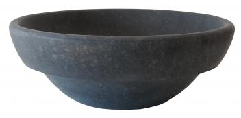 Echo Bowl Shaped Black Basalt Vessel Sink