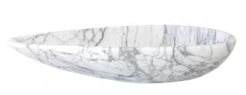 Pod Shaped White Marble Vessel Sink