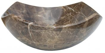 Eden Bath Arched Edges Dark Emperador Bowl Vessel Sink