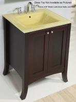 30 Inch Single Sink Modern Bathroom Vanity with Spiced Cherry Finish and Choice of Counter Top