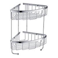 2 Tier Chrome Wire Basket