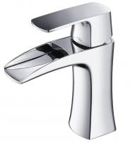 Chrome Single Hole Bathroom Vanity Faucet
