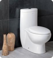 Fresca Delphinus One Piece Dual Flush Toilet with Soft Close Seat