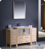 54 inch modern single sink vanity in espresso with ceramic top uvfvn62123012esuns54. Black Bedroom Furniture Sets. Home Design Ideas