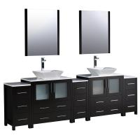 96 inch double vanity. Torino 96 Inch Espresso Modern Double Sink Bathroom Vanity Shop Large Bath Vanities 73  95 Inches with Free