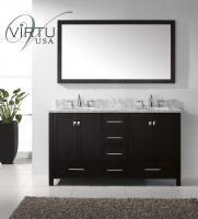 60 Inch Double Sink Bathroom Vanity Set with Matching Mirror