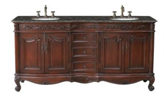 Stufurhome 72 Inch Double Sink Bathroom Vanity