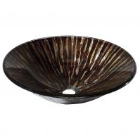 Golden Ebony Design Glass Vessel Sink