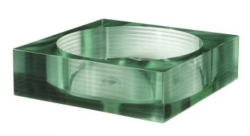 Multi Layer Clear Square Glass Vessel Sink