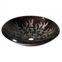 Sparkle Black Design Glass Vessel Sink