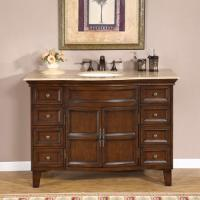 Silkroad Exclusive 48 Inch Single Sink Bathroom Vanity