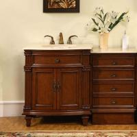 Silkroad Exclusive 51 Inch Single Sink Bathroom Vanity