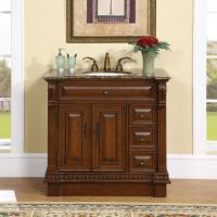 Silkroad Exclusive 38 Inch Single Sink Bathroom Vanity