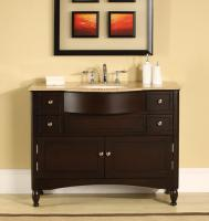 Silkroad Exclusive 45 Inch Single Sink Bathroom Vanity