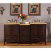 Bathroom Double Sink Vanities on 76 Inch Double Sink Bathroom Vanity With Granite Counter Top