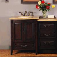 Silkroad Exclusive 46.5 Inch Single Sink Bathroom Vanity
