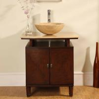 Silkroad Exclusive 29 Inch  Single Sink Bathroom Vanity