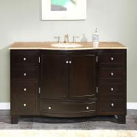55 Inch Single Sink Bathroom Vanity with Choice of Top
