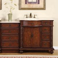 Silkroad Exclusive 55 Inch Single Sink Bathroom Vanity