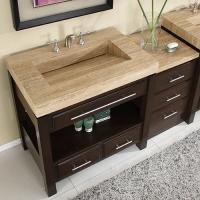 Silkroad Exclusive 56 Inch Single Sink Bathroom Vanity